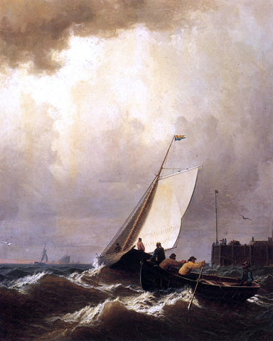 William Bradford Rough Seas - Hand Painted Oil Painting