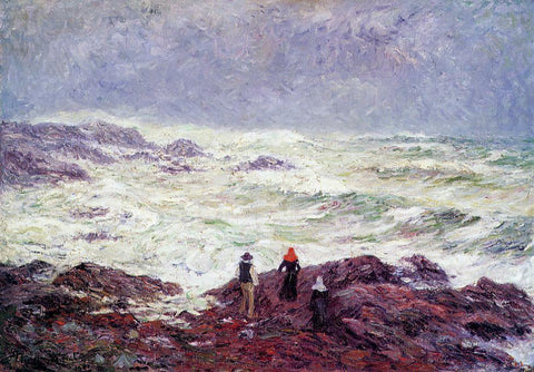 Henri Moret Rough Weather at Raguenez, near Pont Aven - Hand Painted Oil Painting