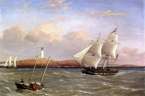Fitz Hugh Lane Rounding the Lighthouse - Hand Painted Oil Painting