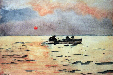 Winslow Homer Rowing Home - Hand Painted Oil Painting