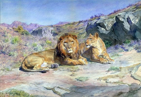 Rosa Bonheur Royalty at Home - Hand Painted Oil Painting