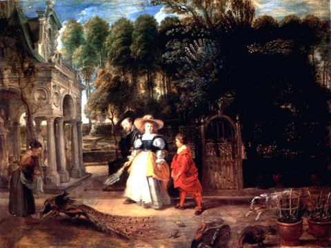 Peter Paul Rubens Rubens In His Garden With Helena Fourment - Hand Painted Oil Painting