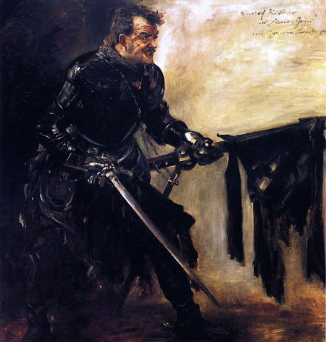 Lovis Corinth Rudolph Rittner as Florian Geyer, First Version - Hand Painted Oil Painting