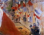 Edouard Manet Rue Mosnier Decorated with Flags - Hand Painted Oil Painting