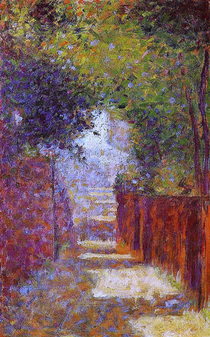 Georges Seurat Rue Saint-Vincent, Montmartre, in Spring - Hand Painted Oil Painting