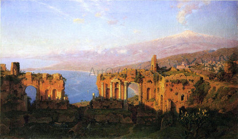 William Stanley Haseltine Ruins of the Roman Theatre at Taormina, Sicily - Hand Painted Oil Painting