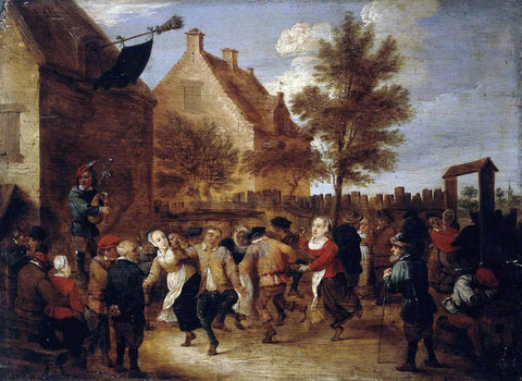 Abraham Teniers Rural Feast - Hand Painted Oil Painting