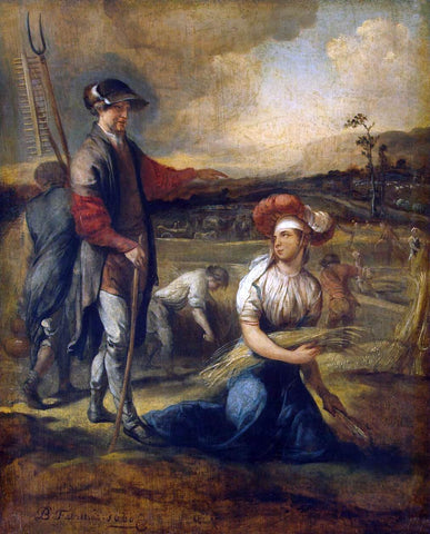 Barent Fabritius Ruth and Boaz - Hand Painted Oil Painting