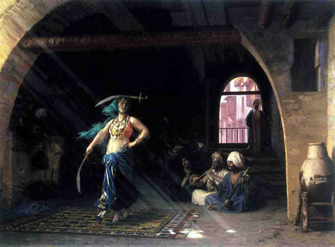 Jean-Leon Gerome Sabre Dance in a Cafe - Hand Painted Oil Painting