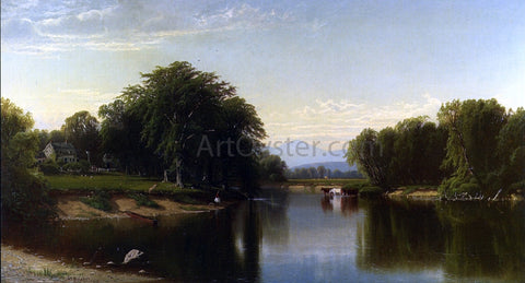 Alfred Thompson Bricher Saco River, New Hampshire - Hand Painted Oil Painting