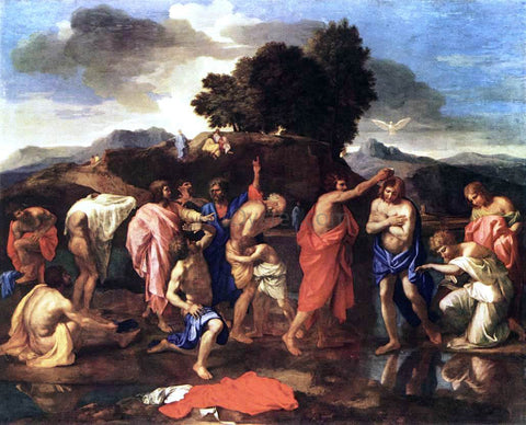 Nicolas Poussin Sacrament of Baptism - Hand Painted Oil Painting