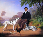 Charles Christian Nahl Sacramento Indian with Dogs - Hand Painted Oil Painting