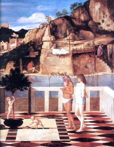 Giovanni Bellini Sacred Allegory (detail) - Hand Painted Oil Painting