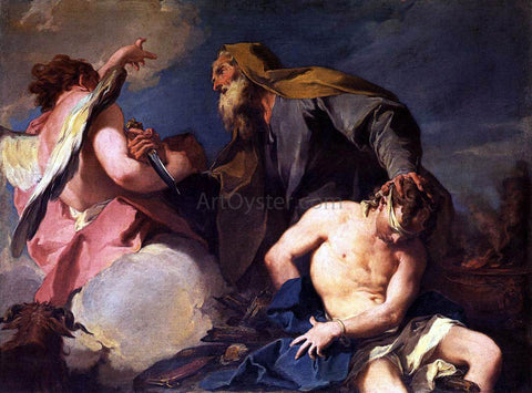 Giambattista Pittoni Sacrifice of Isaac - Hand Painted Oil Painting