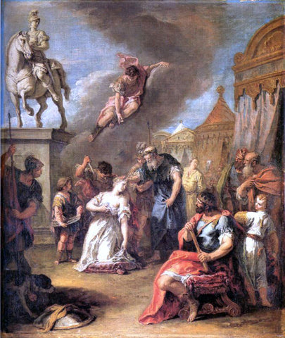 Sebastiano Ricci Sacrifice of Polissena - Hand Painted Oil Painting