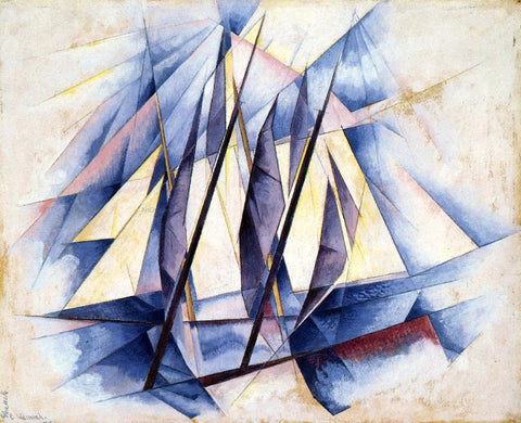 Charles Demuth Sail: In Two Movements - Hand Painted Oil Painting