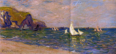 Claude Oscar Monet Sailboats at Sea, Pourville - Hand Painted Oil Painting