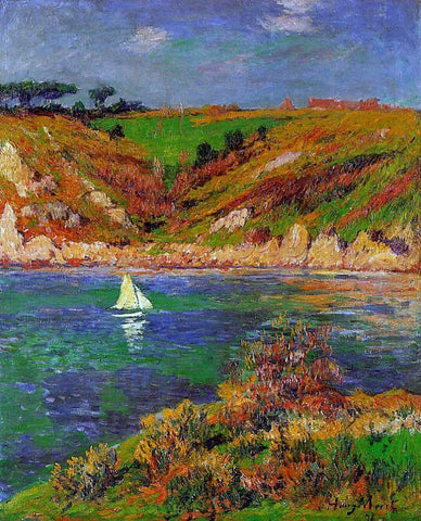 Henri Moret Sailboats in Brittany - Hand Painted Oil Painting