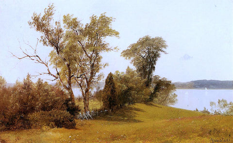 Albert Bierstadt Sailboats on the Hudson at Irvington - Hand Painted Oil Painting