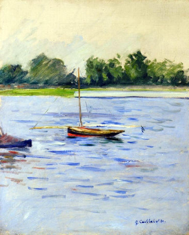 Gustave Caillebotte Sailing Boats on the Seine at Argenteuil - Hand Painted Oil Painting