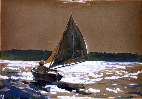 Winslow Homer Sailing by Moonlight - Hand Painted Oil Painting