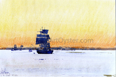 Frederick Childe Hassam Sailing Ship Locked in Ice - Hand Painted Oil Painting