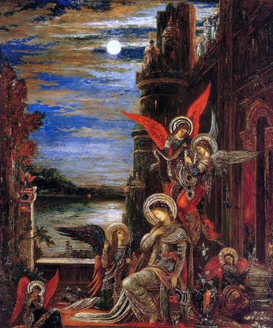 Gustave Moreau Saint Cecilia: Angels Announcing Her Impending Martyrdom - Hand Painted Oil Painting