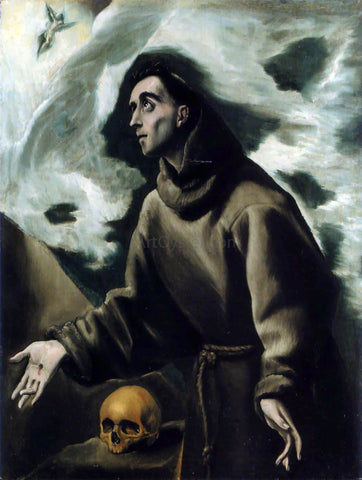 El Greco Saint Francis Receiving the Stigmata - Hand Painted Oil Painting