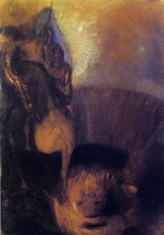 Odilon Redon Saint George - Hand Painted Oil Painting