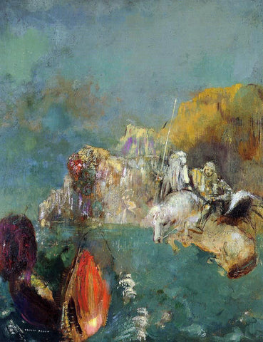 Odilon Redon Saint George and the Dragon - Hand Painted Oil Painting