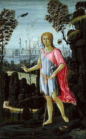 Jacopo Del Sellaio Saint John the Baptist - Hand Painted Oil Painting