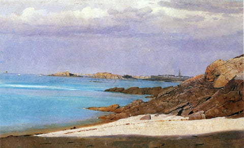 William Stanley Haseltine Saint Malo, Brittany - Hand Painted Oil Painting