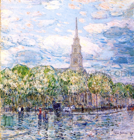 Frederick Childe Hassam Saint Mark's in the Bowery - Hand Painted Oil Painting