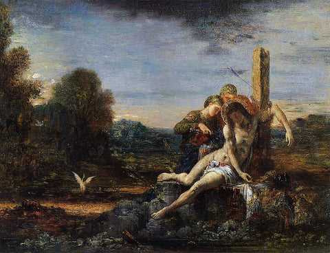 Gustave Moreau Saint Sebastian being Tended by Saintly Women - Hand Painted Oil Painting