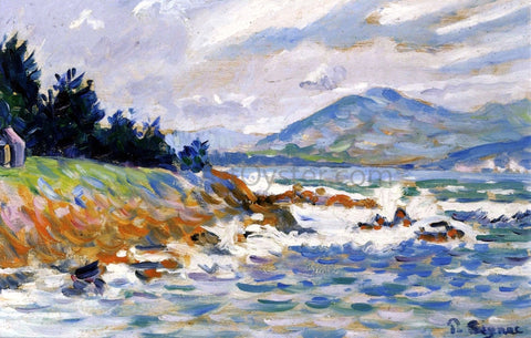 Paul Signac Saint Tropez, Coup de Vent d'Est - Hand Painted Oil Painting