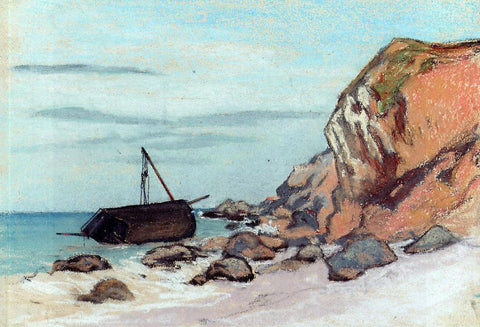Claude Oscar Monet Saint-Adresse, Beached Sailboat - Hand Painted Oil Painting