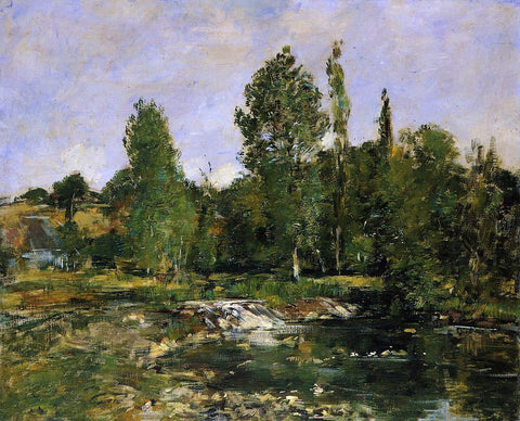 Eugene-Louis Boudin Saint-Cenery, a Pond - Hand Painted Oil Painting
