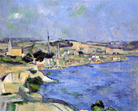 Paul Cezanne Saint-Henri and the Bay of l'Estaque - Hand Painted Oil Painting