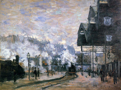 Claude Oscar Monet Saint-Lazare Station, the Western Region Goods Sheds - Hand Painted Oil Painting