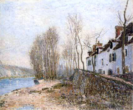 Alfred Sisley Saint-Mammes, The White Cross - Hand Painted Oil Painting