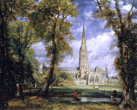 John Constable Salisbury Cathedral from the Bishop's Garden - Hand Painted Oil Painting