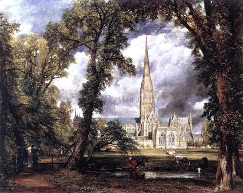 John Constable Salisbury Cathedral from the Bishop's Grounds - Hand Painted Oil Painting