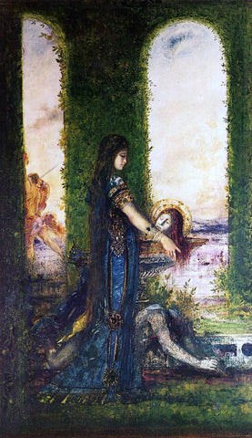 Gustave Moreau Salome in the Garden - Hand Painted Oil Painting