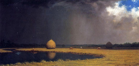 Martin Johnson Heade Salt Marsh Hay - Hand Painted Oil Painting