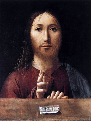 Antonello Da Messina Salvator Mundi - Hand Painted Oil Painting