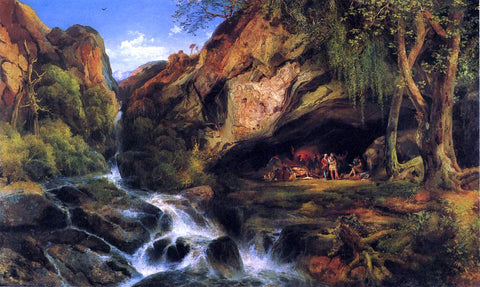 Thomas Moran Salvator Rosa Sketching the Banditi - Hand Painted Oil Painting