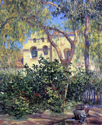 Guy Orlando Rose San Gabriel Mission - Hand Painted Oil Painting