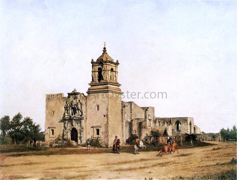 Theodore Gentilz San Jose de Aguayo (also known as Mission San Jose) - Hand Painted Oil Painting