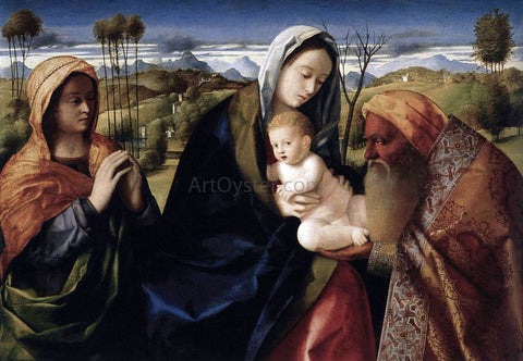 Giovanni Bellini Santa Conversazione - Hand Painted Oil Painting