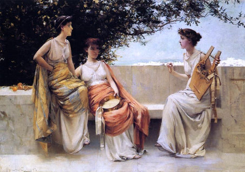 Francis Coates Jones Sappho - Hand Painted Oil Painting